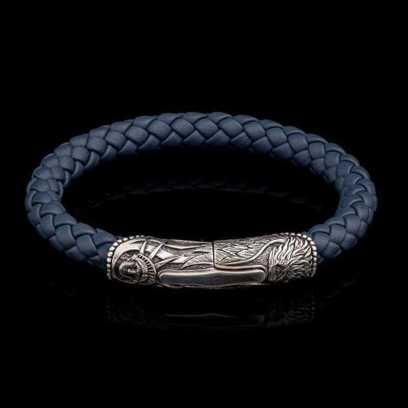 William Henry Blue Ridge Leather Bracelet