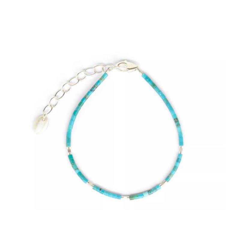 Bernd Wolf Cubiliani Silver Turquoise Bracelet