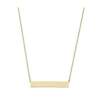 Engraveable Bar Necklace
