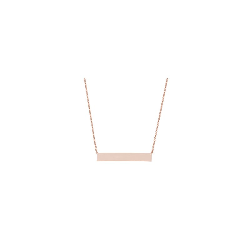 Carla Nancy B Engraveable Bar Necklace