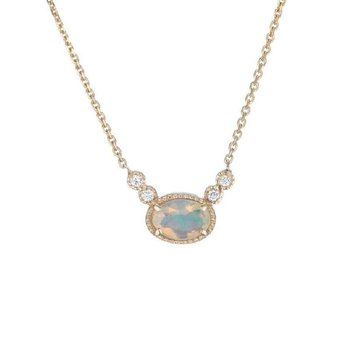 Opal Diamond Dew Necklace