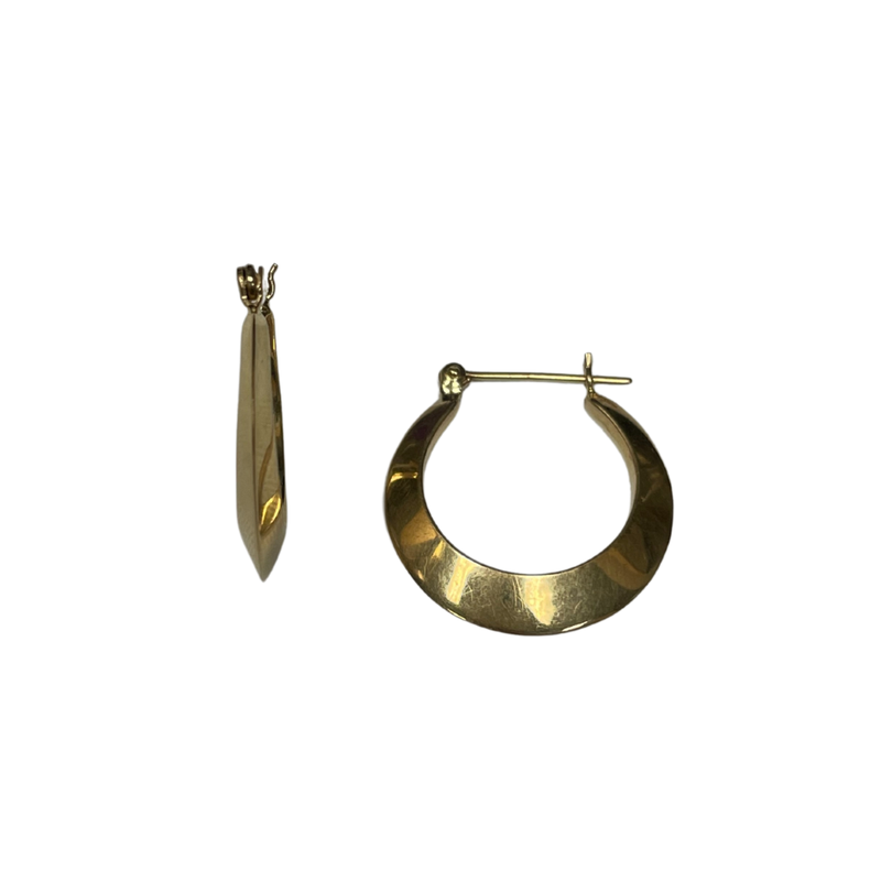 Antique, Estate & Consignment Knife Edge Hoop Earrings