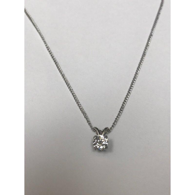 Antique, Estate & Consignment Diamond Solitaire Necklace