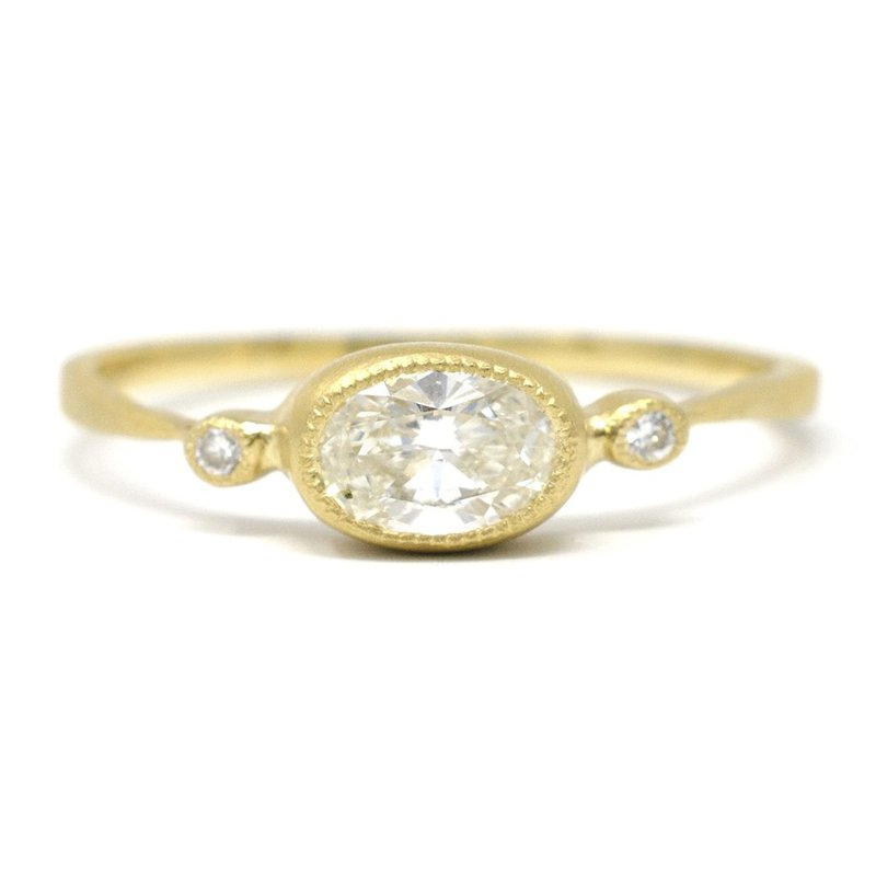 Jennifer Dawes Design Oval Horizontal Diamond Ring
