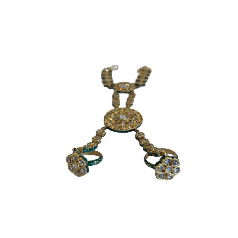 Antique, Estate & Consignment Rose Cut Diamond & Enamel Hand Ornament
