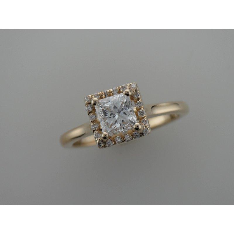 Antique, Estate & Consignment Princess Cut Halo Diamond Engagement Ring
