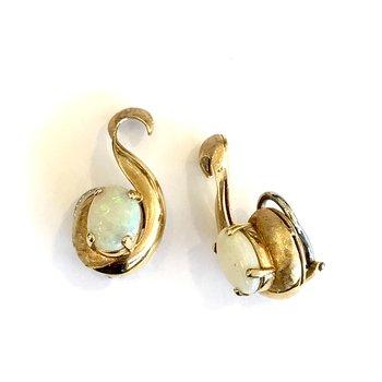 Opal & Gold Earrings