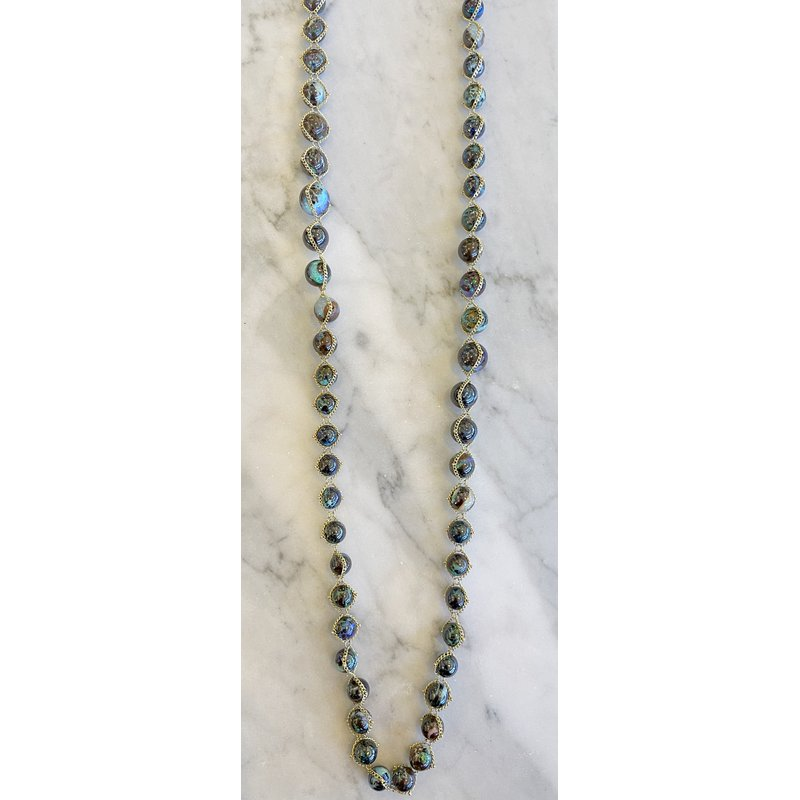 Amali Boulder Opal Textile Necklace - 195 Carats
