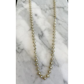 Pearl Textile Necklace