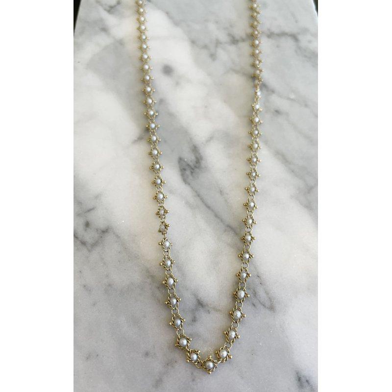Amali Pearl Textile Necklace