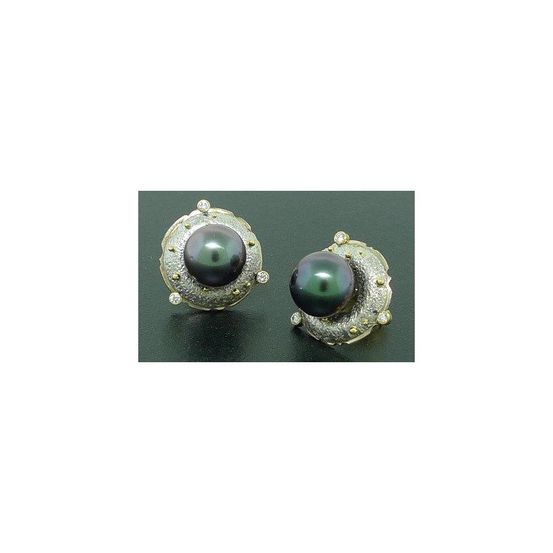 Richard Kimball Tahitian Pearl Earrings