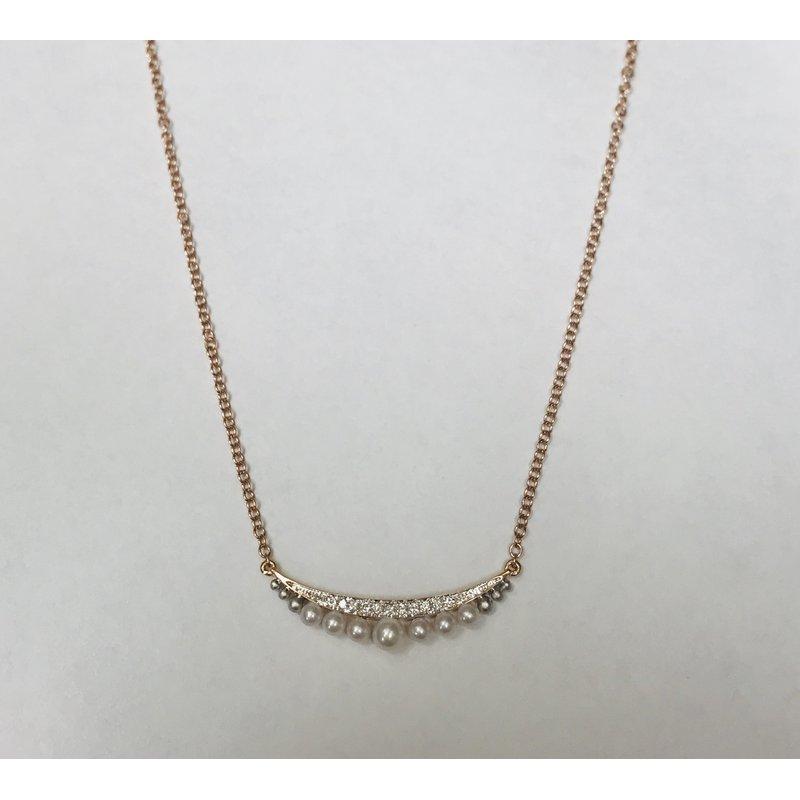 Parade Design Pearl & Diamond Smile Necklace N4073A