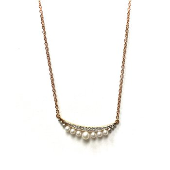 Pearl & Diamond Smile Necklace N4073A