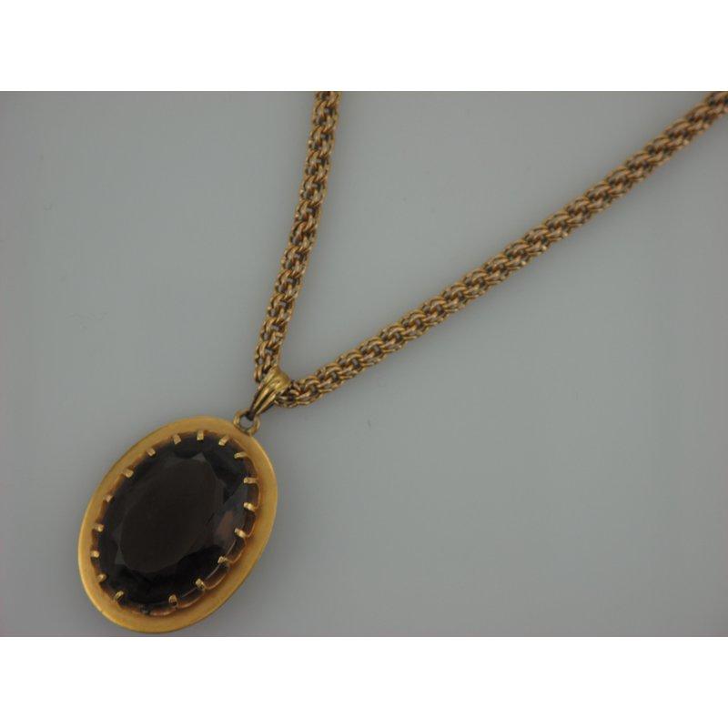 Antique, Estate & Consignment Smokey Quartz Necklace