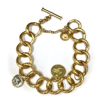 St. Chiara & St. Francis Gold Bracelet
