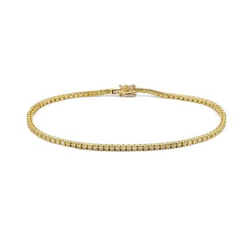 Yellow Gold .25 Carat Diamond Tennis Bracelet