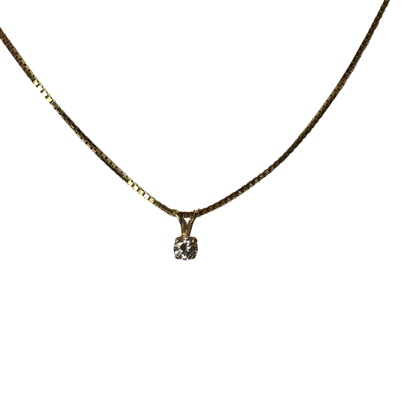 Antique, Estate & Consignment 0.21 Carat Diamond Solitaire Pendant