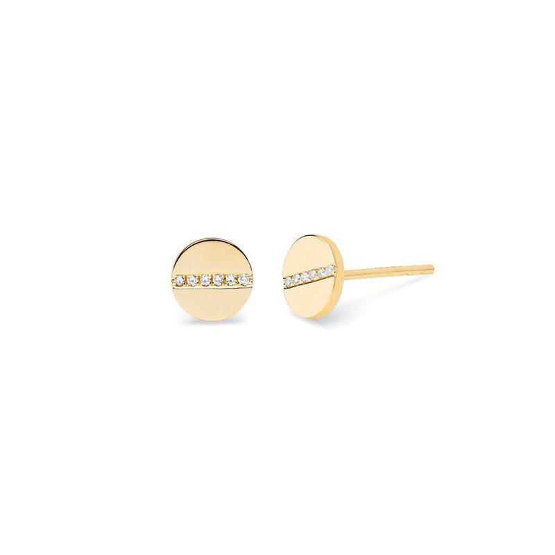 EF Collection Diamond Screw Stud Earring