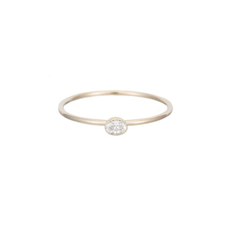 Jennie Kwon Diamond Disc Ring - Oval Diamond