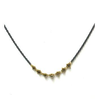 Champagne Diamond Textile Necklace
