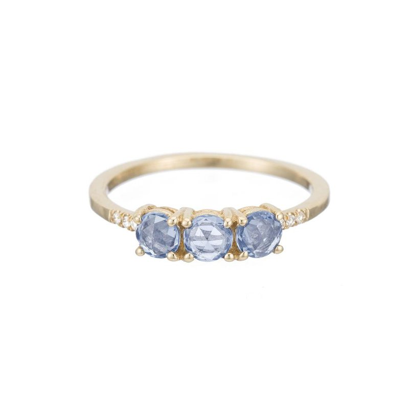 Jennie Kwon Rose Cut Sapphire Equilibrium Ring