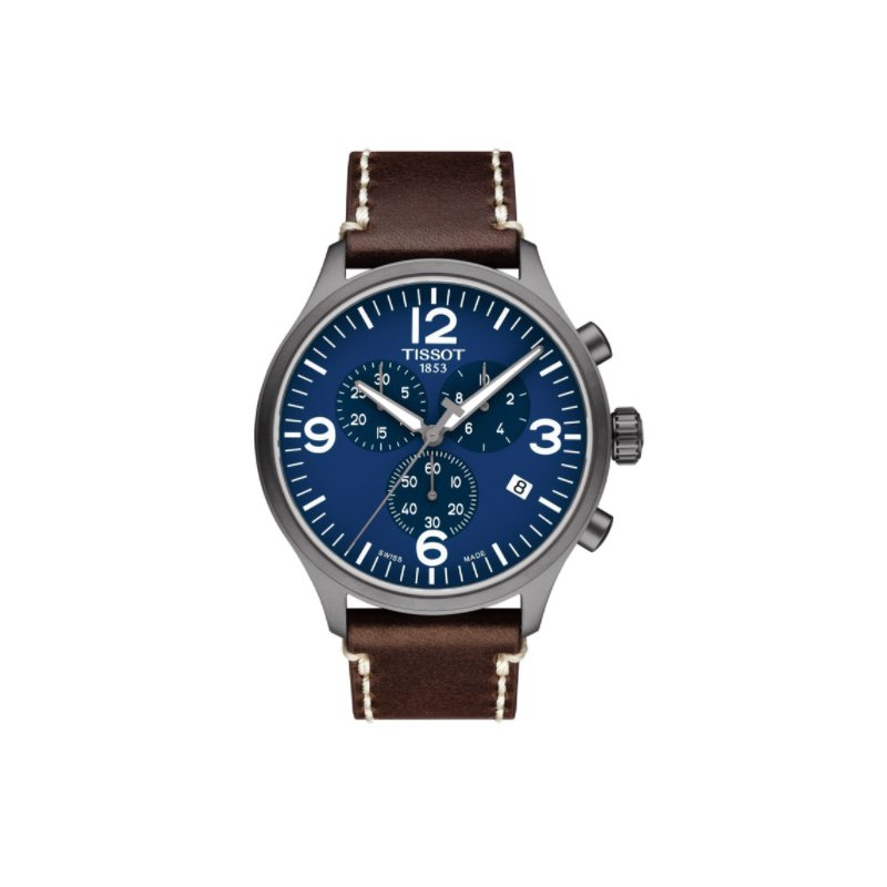 Tissot Chrono XL Blue Dial with Brown Leather