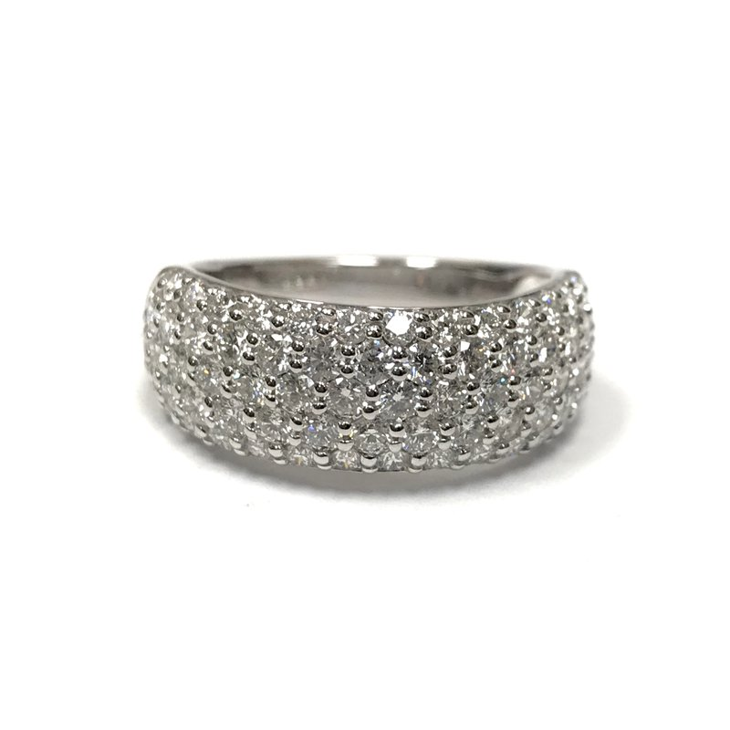 Hurdle's Jewelry Collection Wide Pave Diamond Band