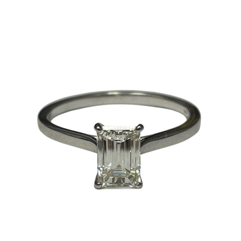 1.04 Carat Emerald Cut Engagement Ring