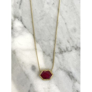 One of a Kind Ruby Necklace