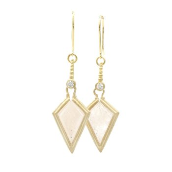 Clover Kite Moonstone Earrings