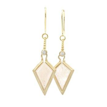 Clover Kite Moonstone Earrings