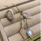 Jennifer Dawes Design Clover Kite Moonstone Earrings