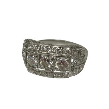 Vintage Platinum Filigree Ring