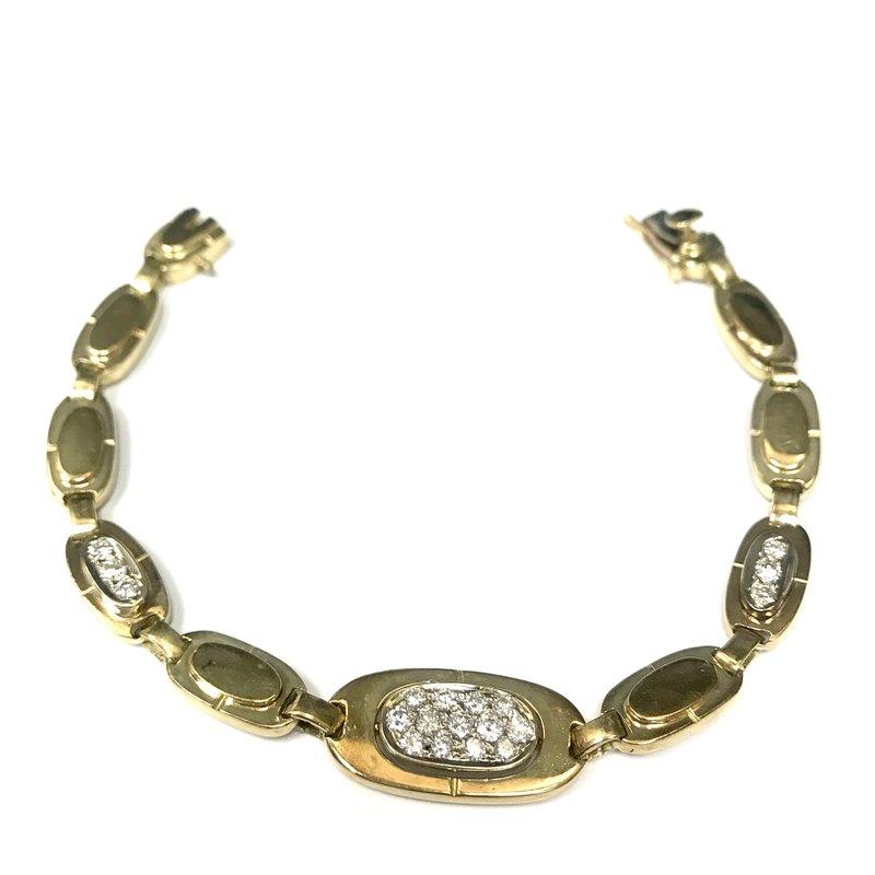 Antique, Estate & Consignment Gold Link Diamond Bracelet
