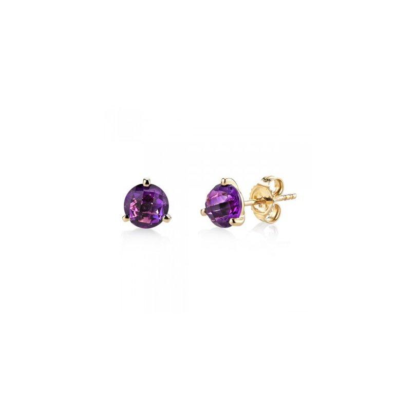 Stanton Color Amethyst Stud Earrings