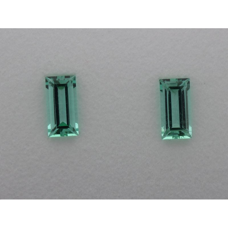 Hurdle's Jewelry Collection Pair of Baguette Tourmalines 3.40 Carats