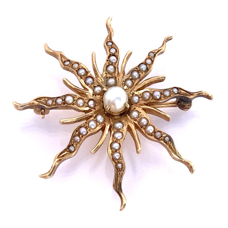 Antique, Estate & Consignment Pearl Starburst Pin
