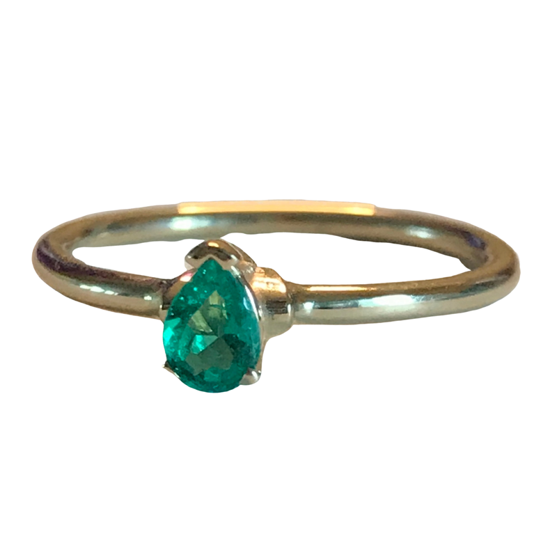 Antique, Estate & Consignment Emerald Stackable Ring