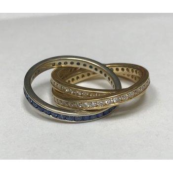 Diamond & Sapphire Rolling Rings