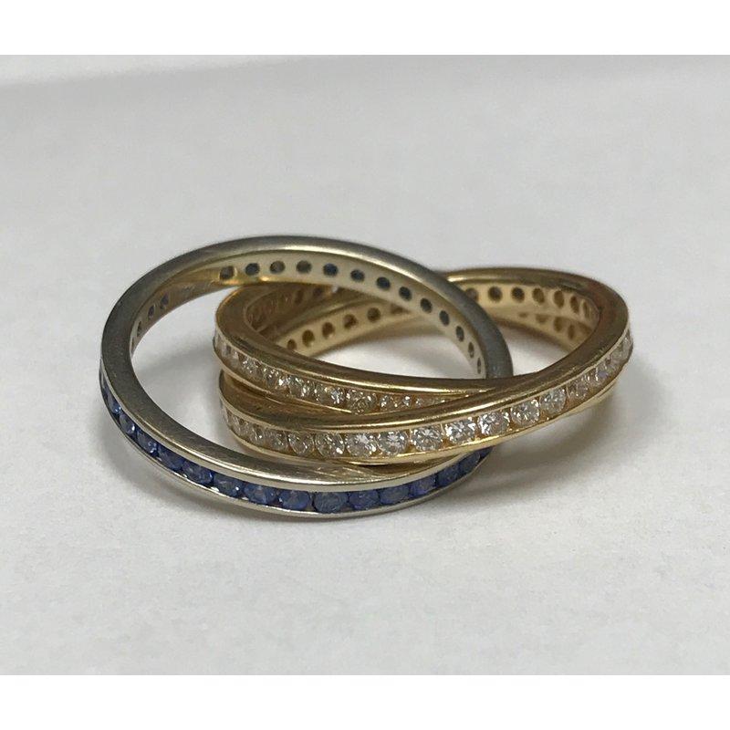 Antique, Estate & Consignment Diamond & Sapphire Rolling Rings