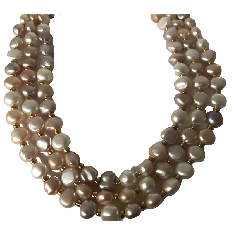 Antique, Estate & Consignment Triple Strand Akoya & Freshwater Pearl Necklace