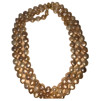 Triple Strand Akoya & Freshwater Pearl Necklace