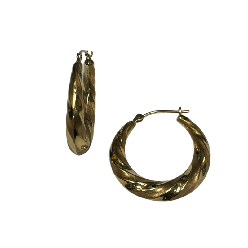 Antique, Estate & Consignment 14k Twisted Hoop Earrings