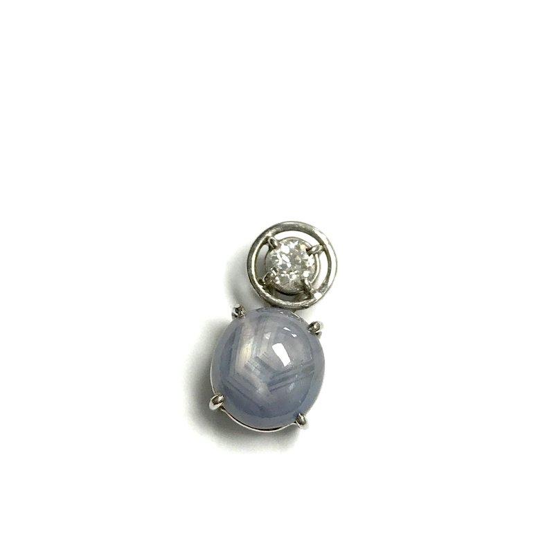 Antique, Estate & Consignment Star Sapphire & European Cut Diamond Pendant