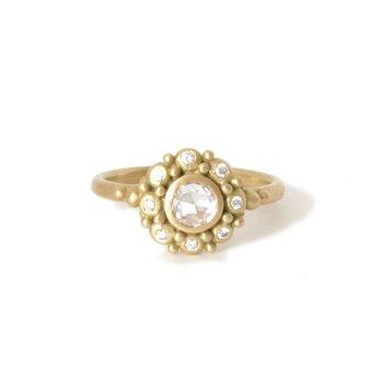 Rose Cut Diamond Rebecca Ring