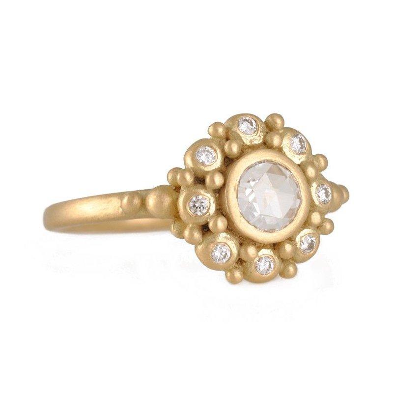 Marian Maurer Rose Cut Diamond Rebecca Ring