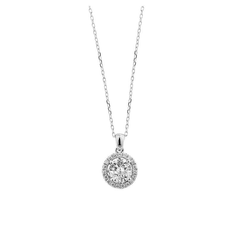 Facet Barcelona Diamond Cluster Necklace