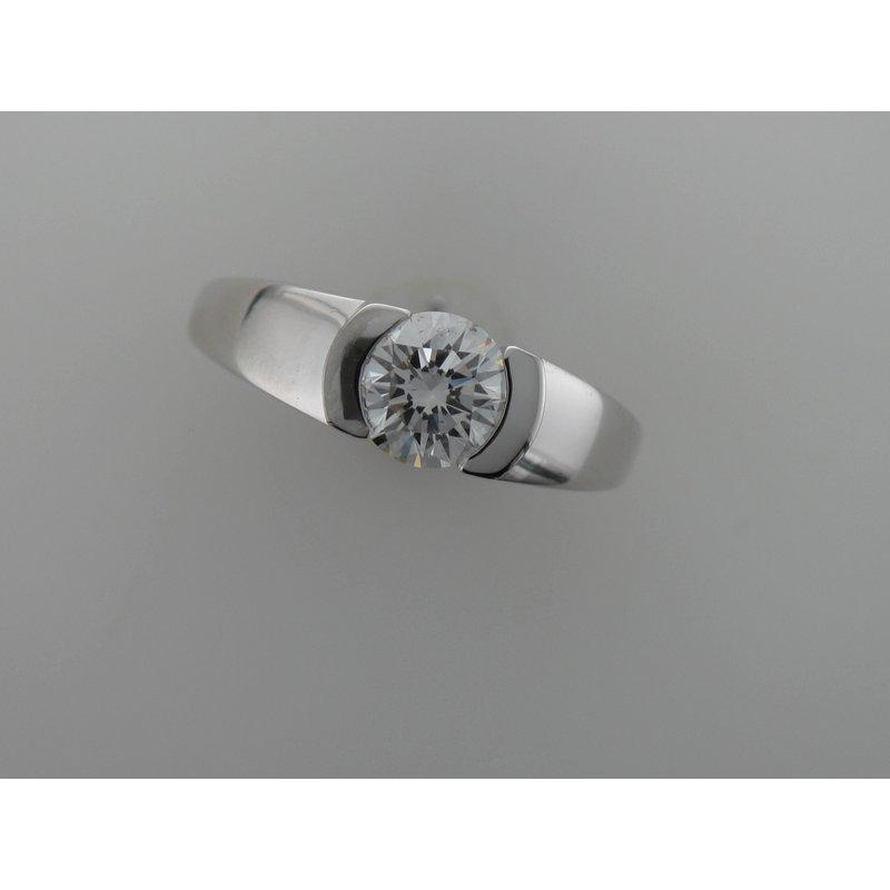 Antique, Estate & Consignment Half Bezel Diamond Engagement Ring