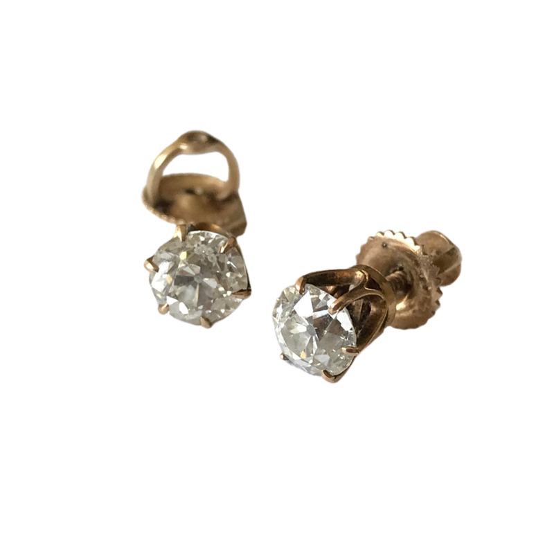 Antique, Estate & Consignment Old European Cut Diamond Stud Earrings