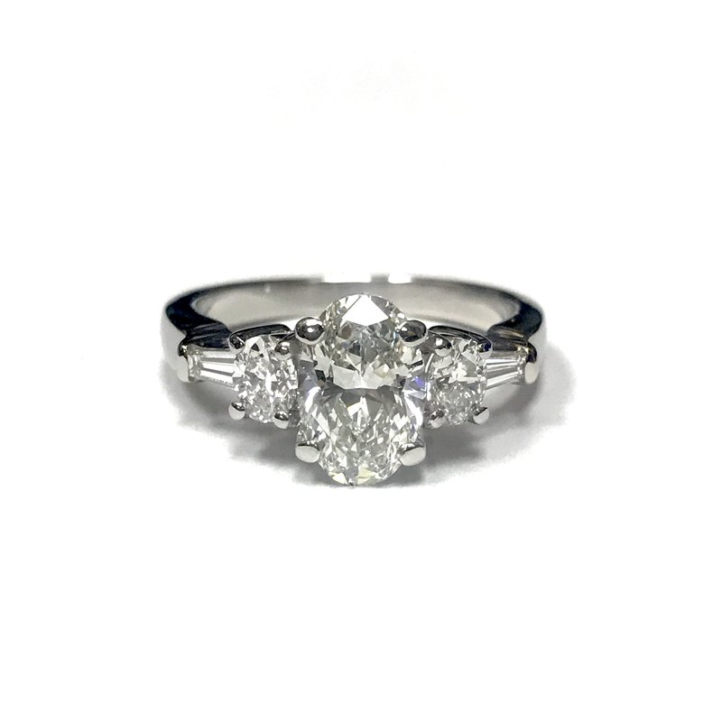 Antique, Estate & Consignment Platinum Oval Diamond Ring